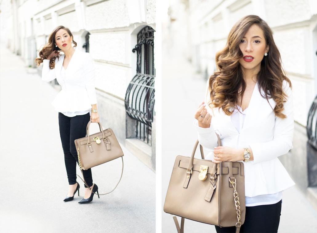Dolce Petite Vienna Fashion Blog White Peplum Blazer 4