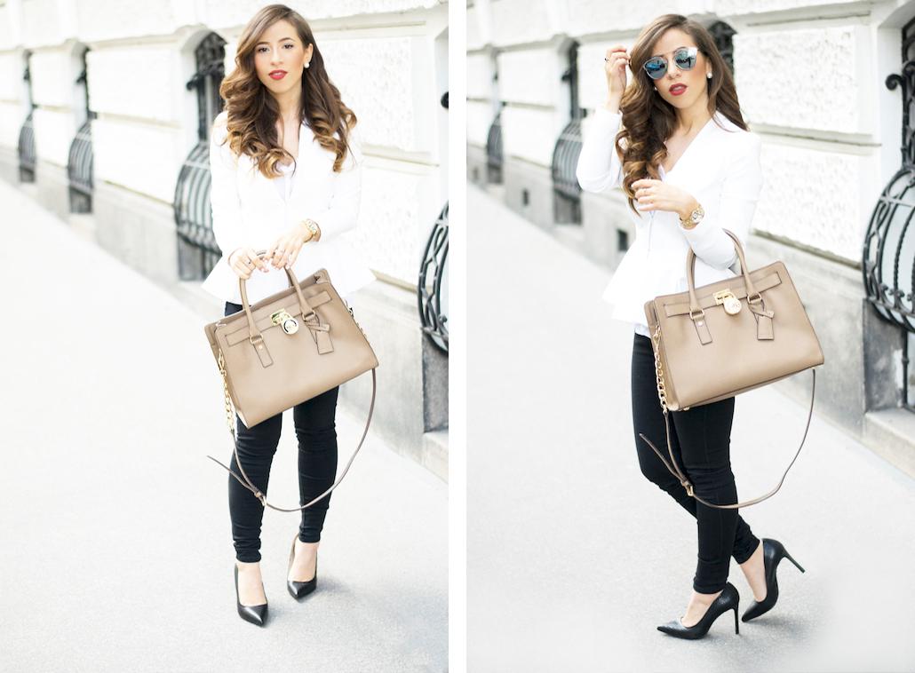 Dolce Petite Vienna Fashion Blog White Peplum Blazer 5